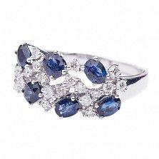 Золотое кольцо с сапфирами и бриллиантами Шарлиз