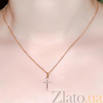 Крестик из красного золота Справедливости аккорды SVA--3100011101/Фианит/Цирконий