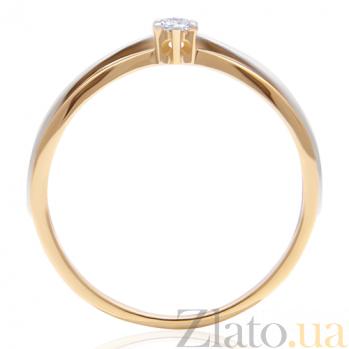 Кольцо из комбинированного золота с бриллиантом Модерн 000029388