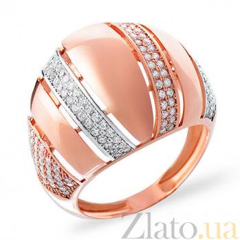 Золотое кольцо с фианитами Подиум SUF--152755
