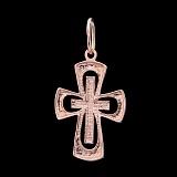 Крестик из золота Спасение