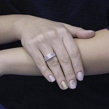 Помолвочное кольцо Лавина в белом золоте с цирконием