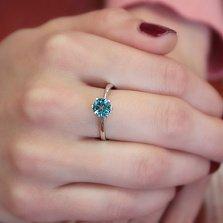 Серебряное кольцо Амритта с лондон топазом