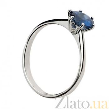 Кольцо из белого золота с сапфиром Нежная фиалка SG--26088590