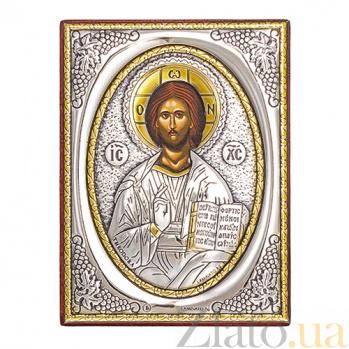 Икона с серебром Господь Вседержитель, 9х7см SAGП Спас 9х7