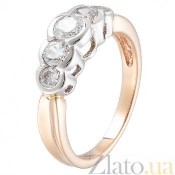 Золотое кольцо с цирконием Виктория TRF--142289
