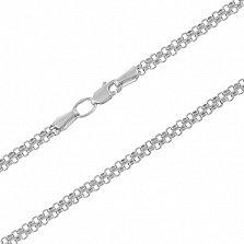 Серебряная цепочка Элегия в плетении двойной якорь, 3мм