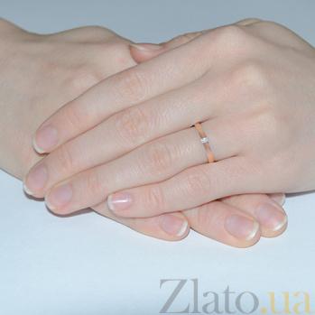 Золотое обручальное кольцо с бриллиантом Богема 000001615