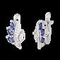 Сережки из серебра с цирконием Олимпия 000024610