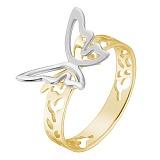 Кольцо Урания в желтом и белом золоте