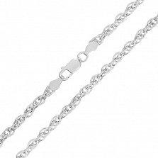 Серебряная цепь Монреаль, 4 мм