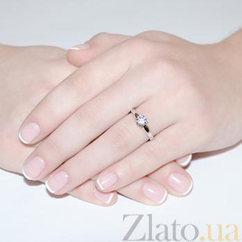 Кольцо из белого золота с бриллиантом Eleanor R0561/бел