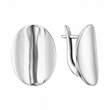 Серебряные серьги в стиле минимализм 000138737
