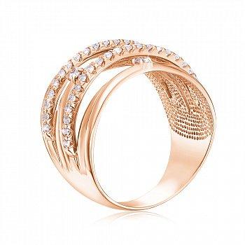 Золотое кольцо с фианитами 000104590