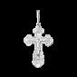 Серебряный крестик Всепрощение 000025351