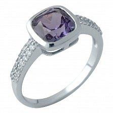 Серебряное кольцо Лаодика с александритом и фианитами