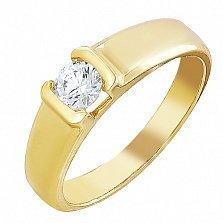 Золотое кольцо Мириам с камнем Swarovski