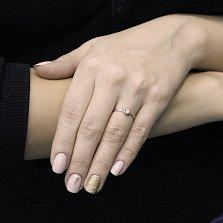 Помолвочное золотое кольцо Райпур в красном цвете с бриллиантом