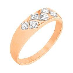 Серебряное кольцо с цирконием 000025624