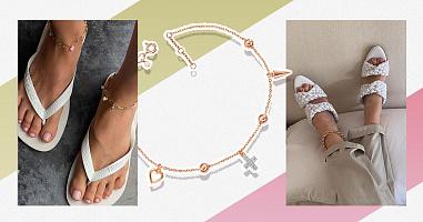 Браслет на ногу – модна прикраса з історією