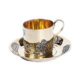 Серебряная чашка с позолотой Античная