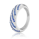Серебряное кольцо с цирконием Катарина