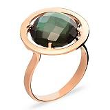 Золотое кольцо с зеленым кварцем Загадки Сатурна
