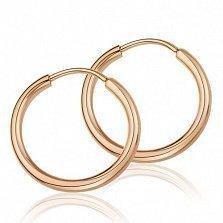 Золотые серьги-кольца Дерби