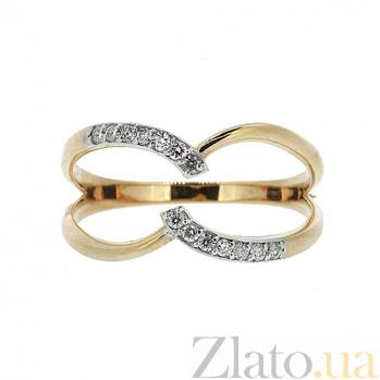 Золотое кольцо в красном цвете с бриллиантами Бажена 000021417
