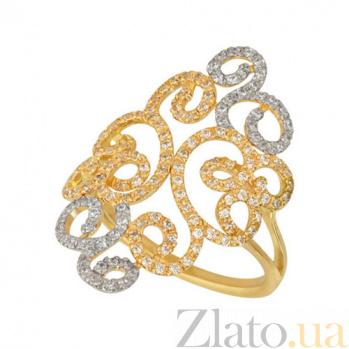 Золотое кольцо Арабеска с цирконием VLT--ТТТ1204