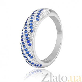 Серебряное кольцо с цирконием Катарина 000028167