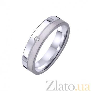 Золотое обручальное кольцо Сердечный друг с фианитом TRF--422229