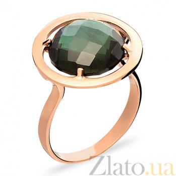 Золотое кольцо с зеленым кварцем Загадки Сатурна SUF--140636Пз