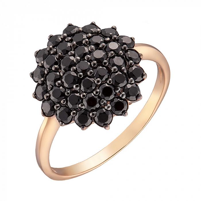 Кольцо в красном золоте Изабель с фианитами 000079569