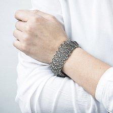 Серебряный браслет Консуэла с чернением