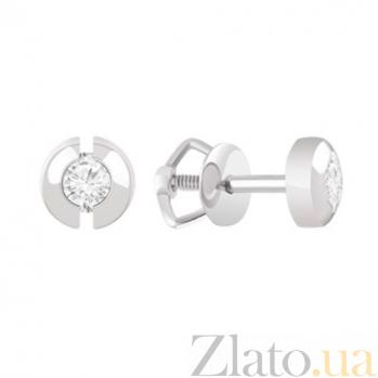 Золотые серьги с бриллиантами Эрика KBL--С2580/бел/брил