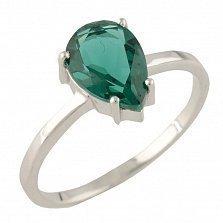 Серебряное кольцо Натаниэлла с синтезированным изумрудом