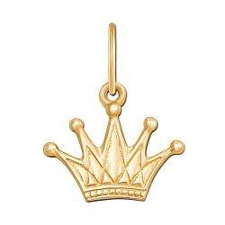 Подвеска-корона из желтого золота 000130939