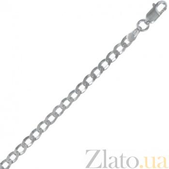 Серебряная цепочка Ариан с родированием, 55 см, 4,5 мм 000030841