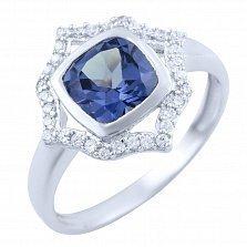 Серебряное кольцо Санджана с александритом и фианитами