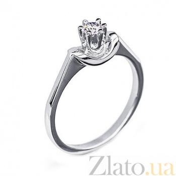 Золотое кольцо с бриллиантом Диана R 0093