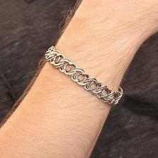 Серебряный браслет Мэрион с чернением, 13мм
