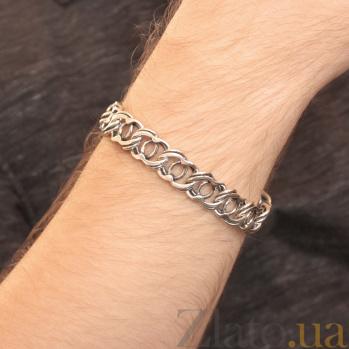 Серебряный браслет Мэрион с чернением, 13мм 000078854