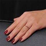 Кольцо из красного золота с бриллиантом Встреча