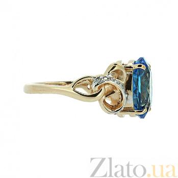 Золотое кольцо с топазом и бриллиантами Мара ZMX--RT-6280_K