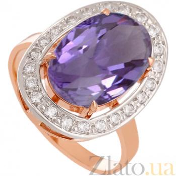 Золотое кольцо Корделия с александритом и фианитами 000030786