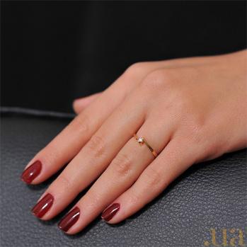 Кольцо из красного золота с бриллиантом Встреча EDM--КД7381