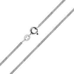 Серебряная цепочка в плетении снейк 000132668