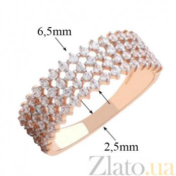 Золотое кольцо с фианитами Эстрелья 000023145