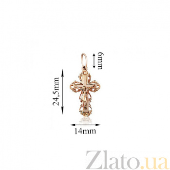 Золотой крестик Храм EDM--КР015